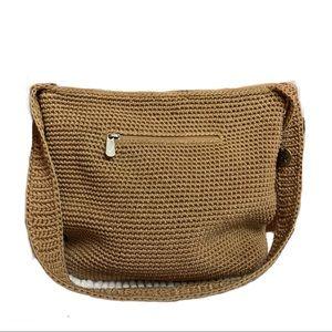 The Sak Crochet Knit Hobo Bag Neutral Tone